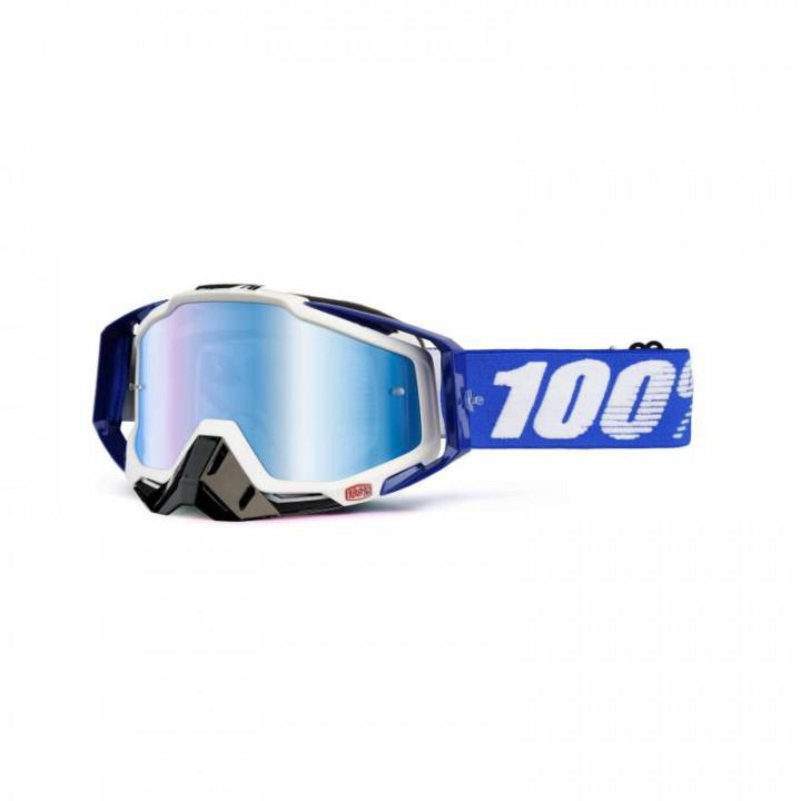 Masque moto cross 100% RACECRAFT COBALT BLUE IRIDIUM