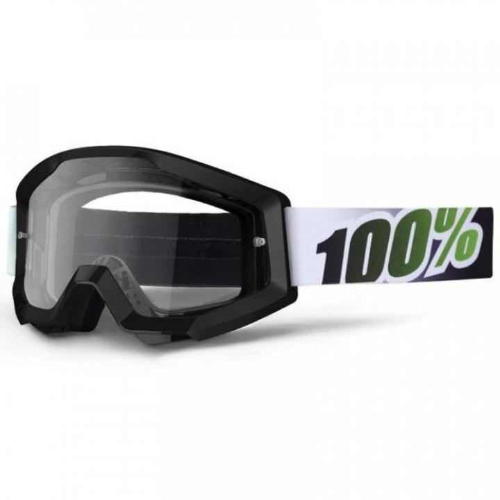 Masque moto cross 100 pour 100 STRATA BLACK LIME