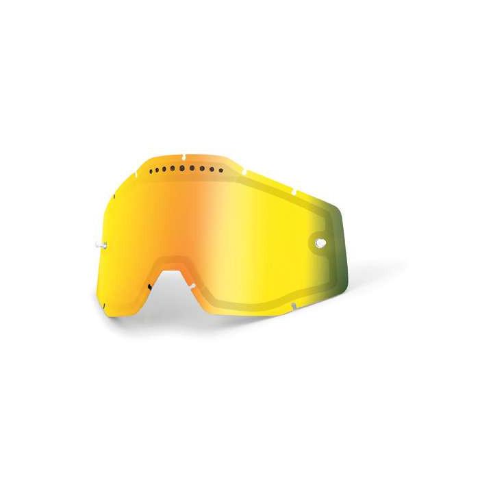 Double écran ventilé Iridium Rouge pour masques 100% RACECRAFT, ACCURI et STRATA