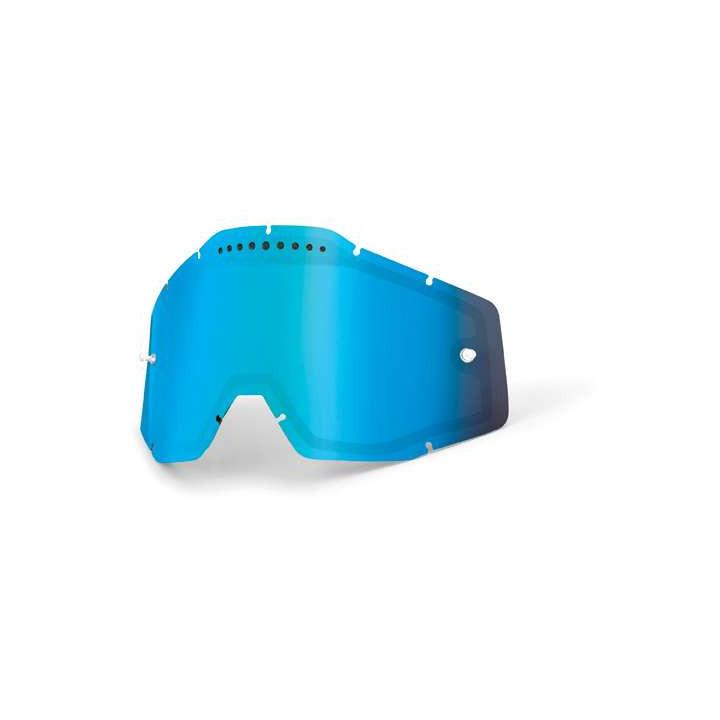 Double écran ventilé Iridium Bleu pour masques 100% RACECRAFT, ACCURI et STRATA