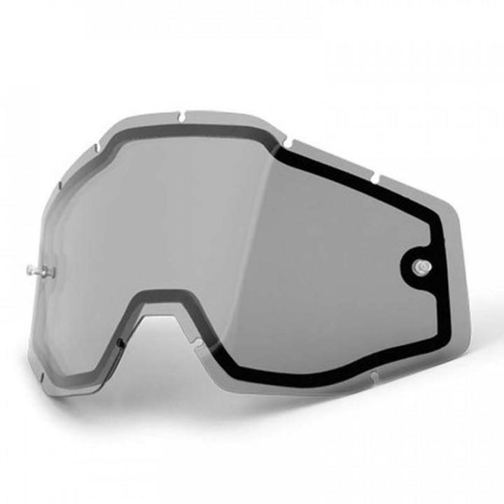 Double écran fumé pour masques 100% RACECRAFT, ACCURI et STRATA