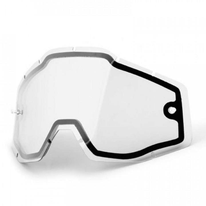 Double écran clair pour masques 100% RACECRAFT, ACCURI et STRATA