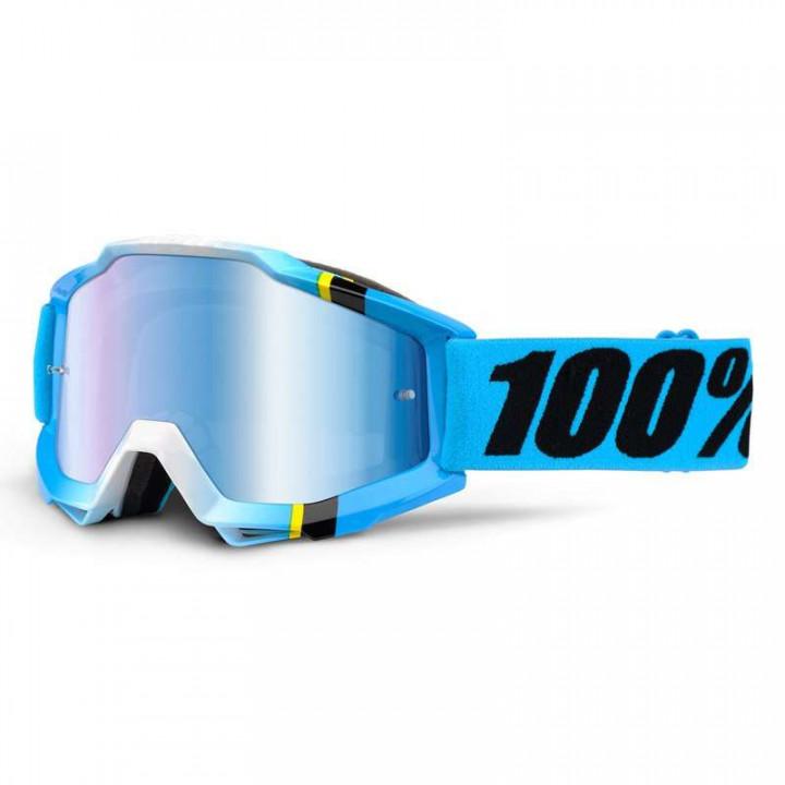 Masque moto cross 100% ACCURI BLUE CRYSTAL IRIDIUM