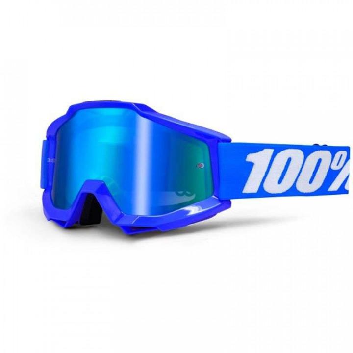 Masque moto cross 100% ACCURI REFLEX BLUE IRIDIUM