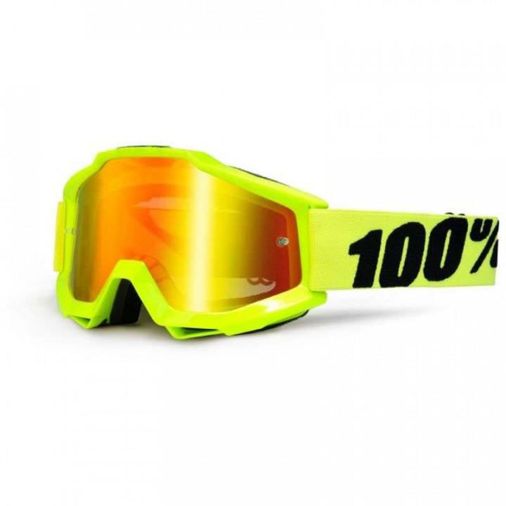 Masque moto cross 100% ACCURI FLUO YELLOW IRIDIUM