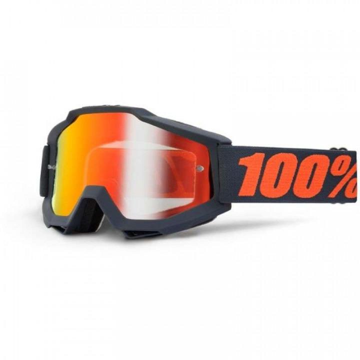 Masque moto cross 100% ACCURI GUNMETAL IRIDIUM