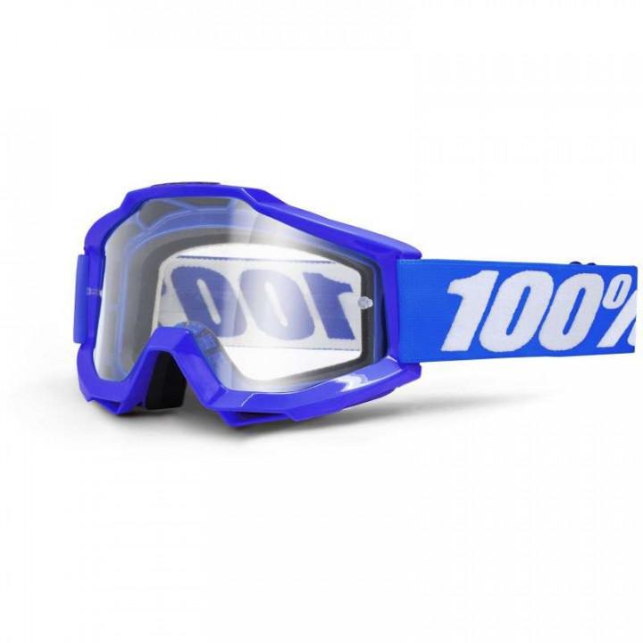 Masque moto cross 100% ACCURI REFLEX BLUE CLAIR