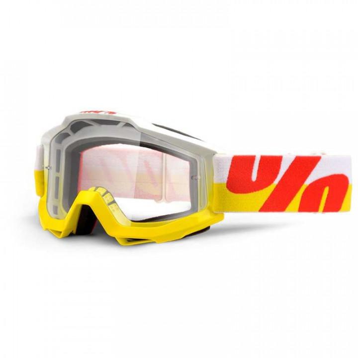 Masque moto cross 100% ACCURI IN&OUT CLAIR