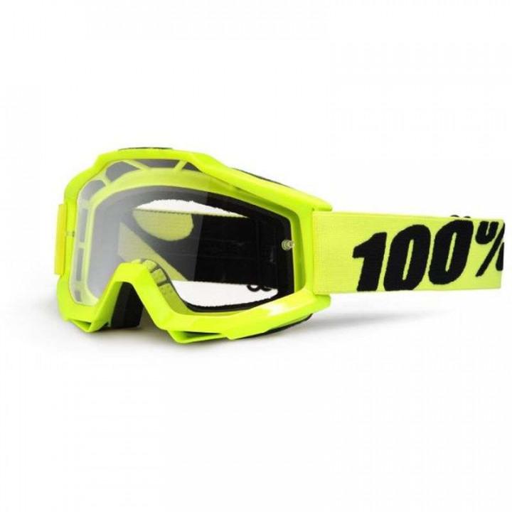 Masque moto cross 100% ACCURI FLUO YELLOW CLAIR
