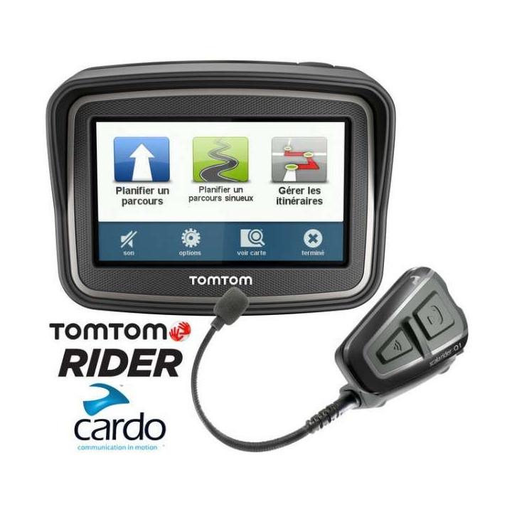 GPS moto TomTom RIDER V4 Europe 45 pays + CARTE A VIE + SCALA RIDER Q1