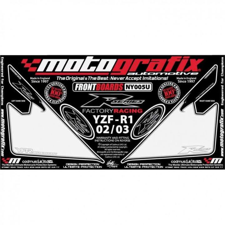 Kit déco Motografix avant blanc Yamaha YZF-R1 02-03