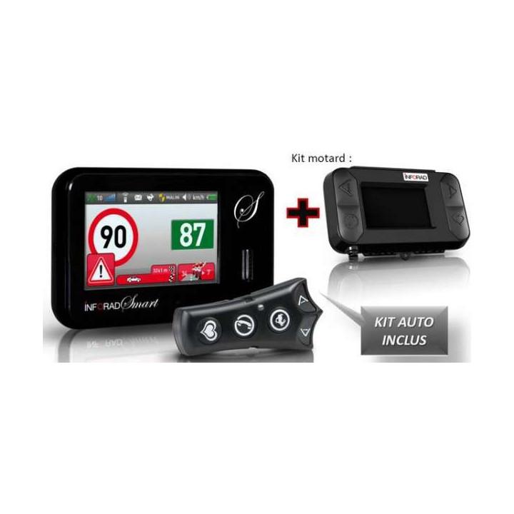 Assistant d'aide à la conduite Inforad SMART FRANCE + KIT MOTO