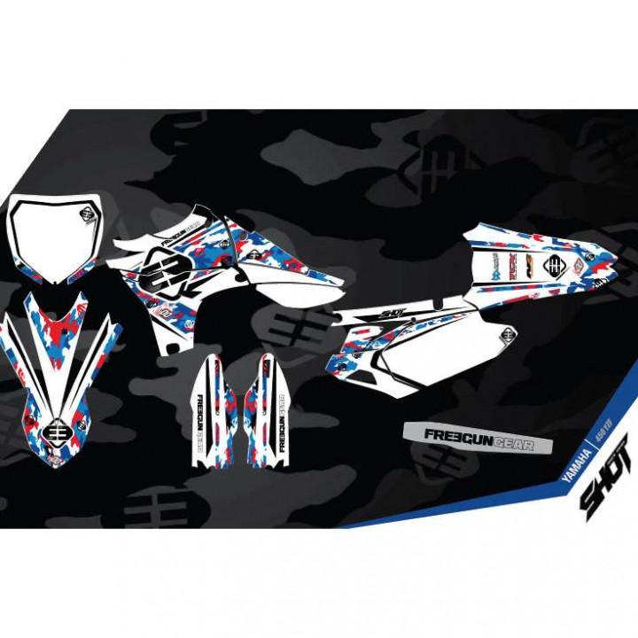 Kit déco Freegun Yamaha 250YZF (10-13) DECO CAMO