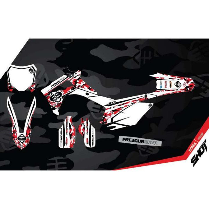 Kit déco Freegun Honda 450CRF (13-14) DECO CAMO