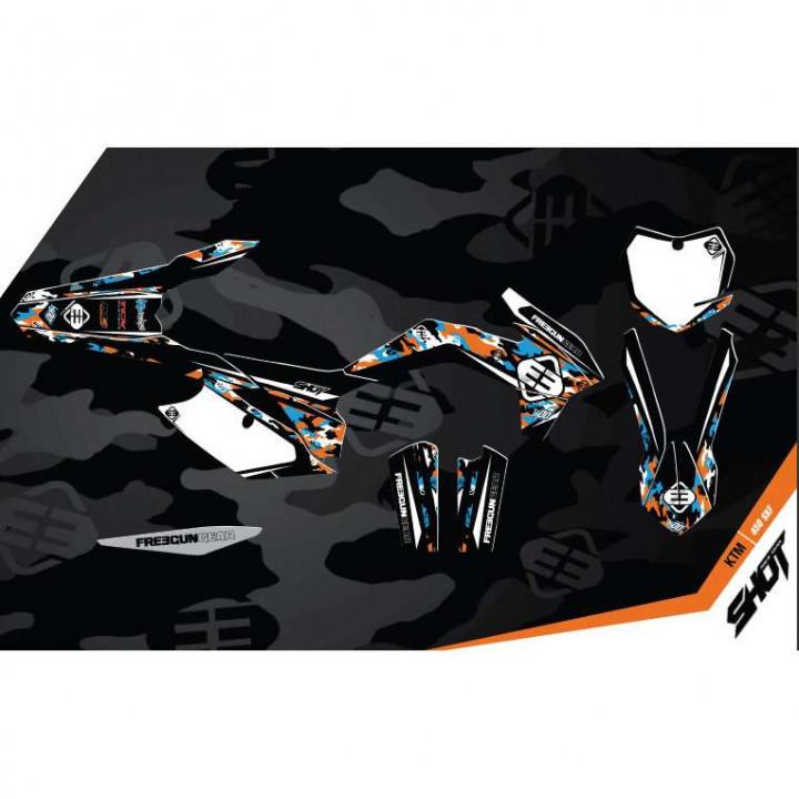 Kit déco Freegun KTM 125SX (11-12) DECO CAMO