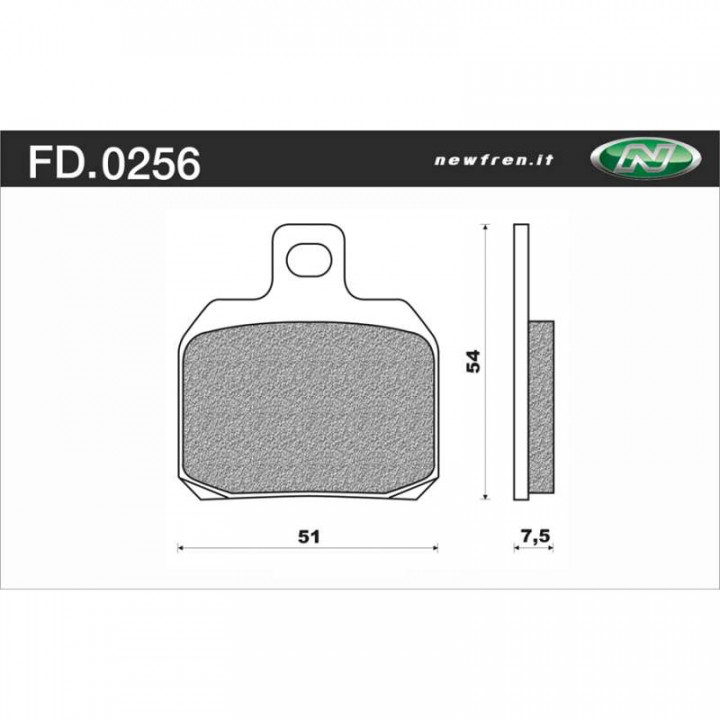 Plaquettes de frein organique Newfren FD0256BE
