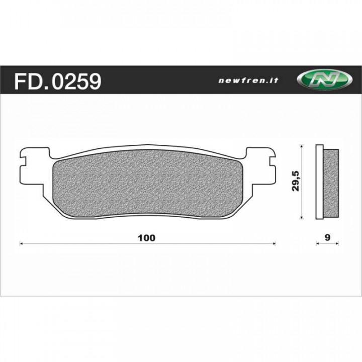 Plaquettes de frein organique Newfren FD0259BE