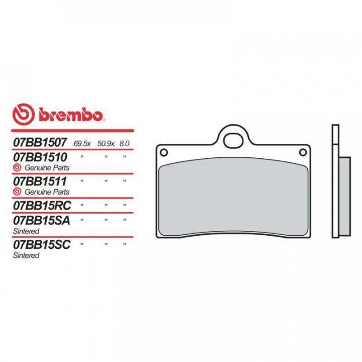Plaquettes de frein moto organique Brembo 07BB1535