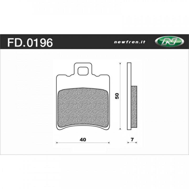 Plaquettes de frein organique Newfren FD0196BA