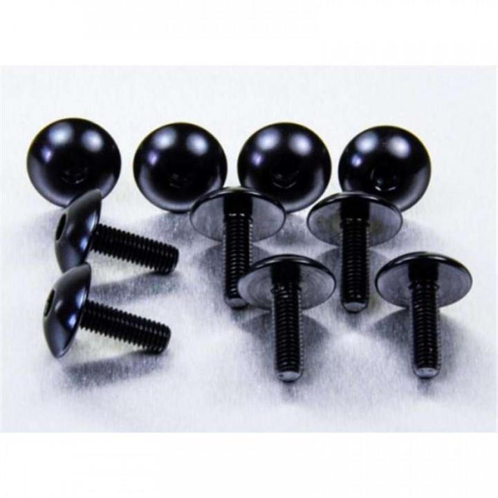 Vis carénage tête bombée XL (x10) Pro-Bolt M5 16mm Noir