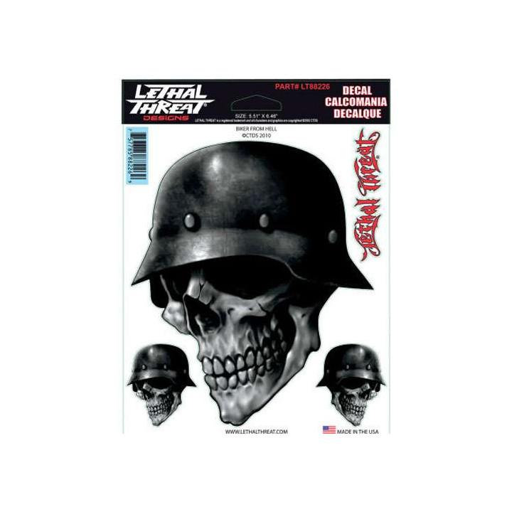 Sticker moto Lethal Threat BIKER FROM HELL (15X20CM)