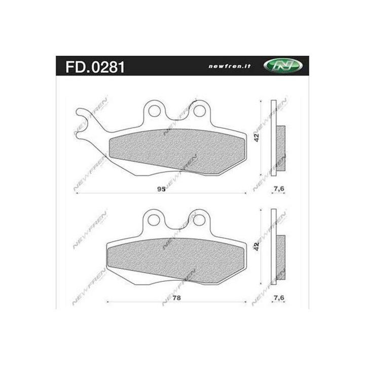 Plaquettes de frein organique Newfren FD.0281 BS