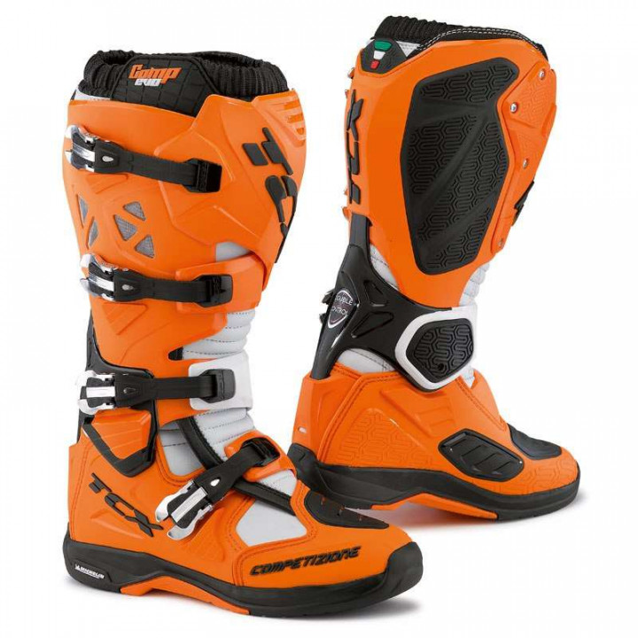 Bottes moto cross TCX COMP EVO MICHELIN 2016 Orange/Noir