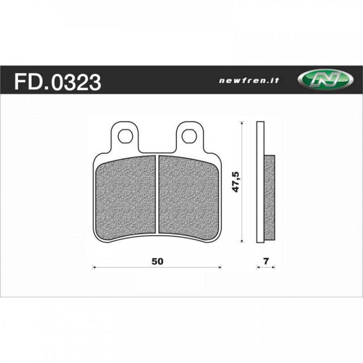 Plaquettes de frein organique Newfren FD.0323 BA