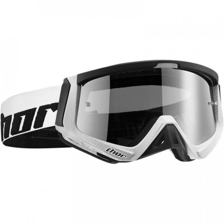 Masque moto cross Thor SNIPER CARBON WHITE/BLACK