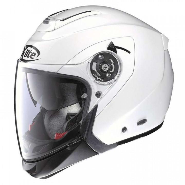 Casque moto X-Lite X403 GT ELEGANCE N-COM METAL WHITE