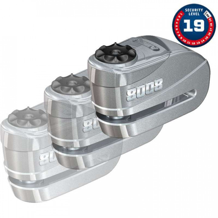 Bloque disque moto alarmé SRA ABUS Granit Detecto X-Plus 8008 S'ENTROUVRANT