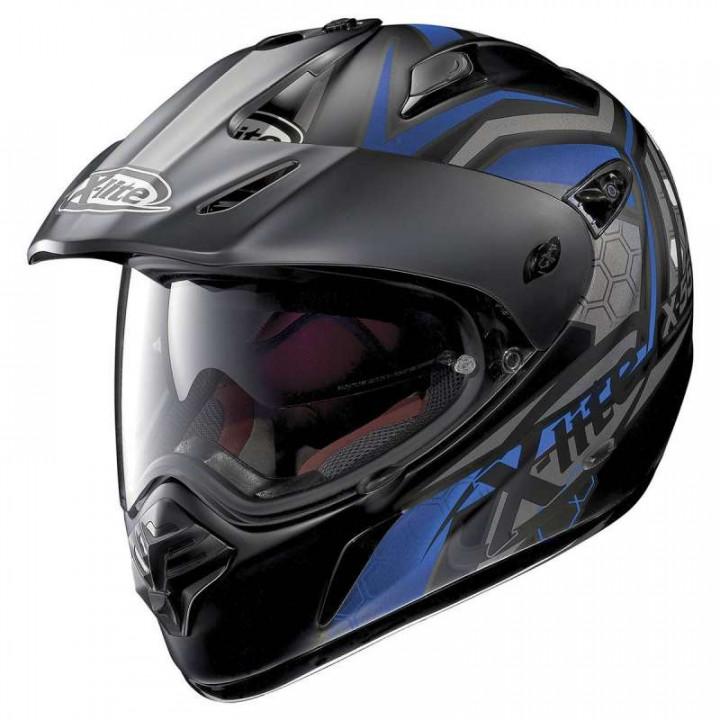 Casque moto X-Lite X551 GT KALAHARI N-COM Noir/Bleu