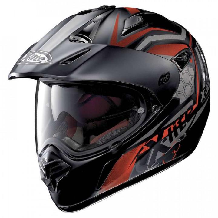 Casque moto X-Lite X551 GT KALAHARI N-COM NOIR/ROUGE