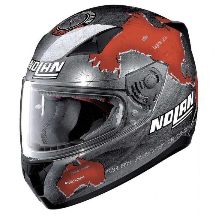 Casque moto Nolan N60.5 GEMINI REPLICA C.CHECA CHROME