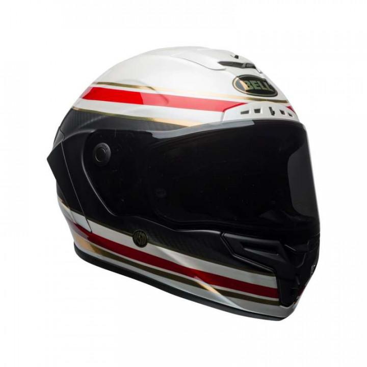 Casque moto Bell RACE STAR RSD Gloss Matte White/Red/Carbon Formula