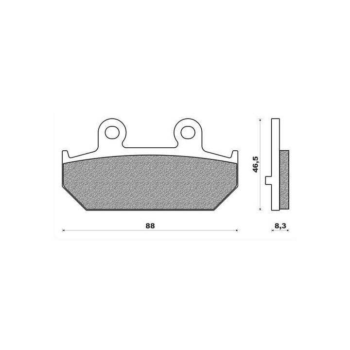 Plaquettes de frein organique Newfren FD0356BE