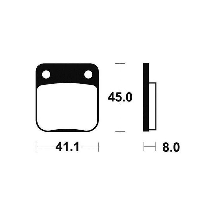 Plaquettes de frein sinter TECNIUM 01624536