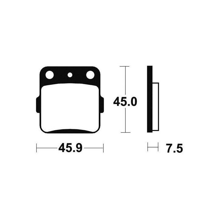 Plaquettes de frein sinter TECNIUM 01624592