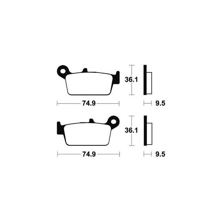 Plaquettes de frein sinter TECNIUM 01624604