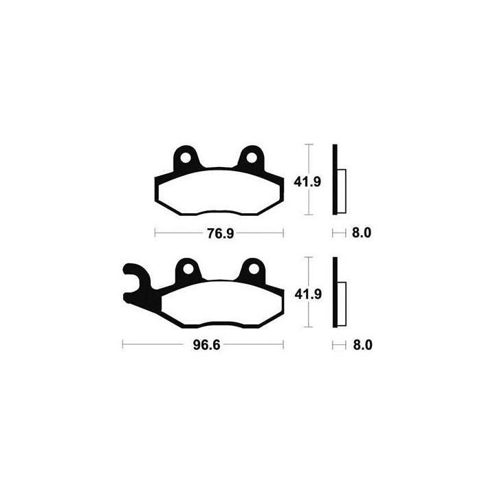 Plaquettes de frein sinter TECNIUM 01624611