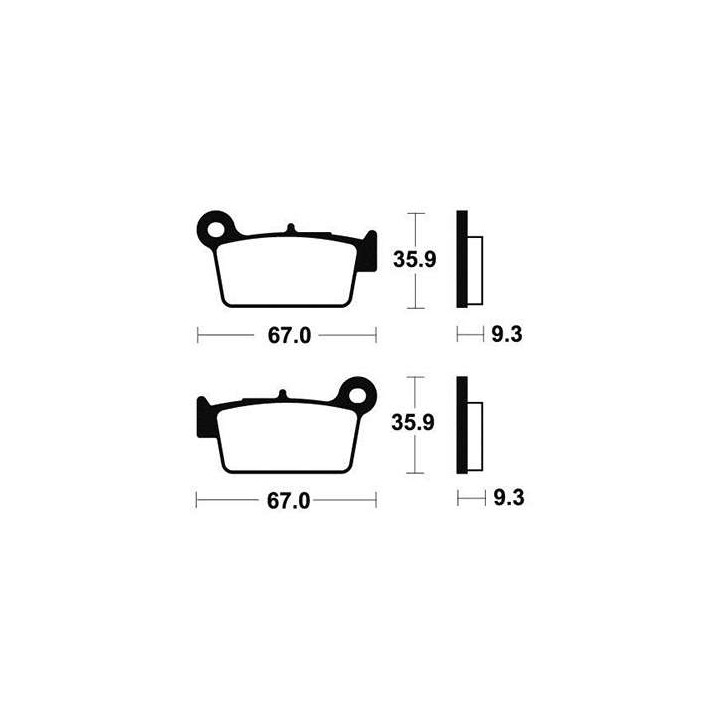 Plaquettes de frein sinter TECNIUM 01624790
