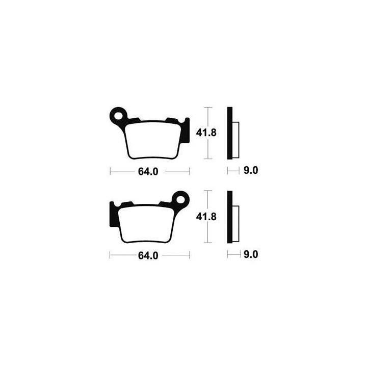 Plaquettes de frein sinter TECNIUM 01624791