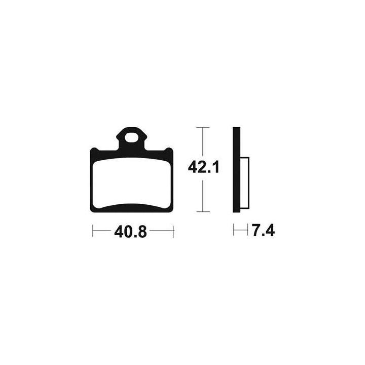 Plaquettes de frein sinter TECNIUM 01624872