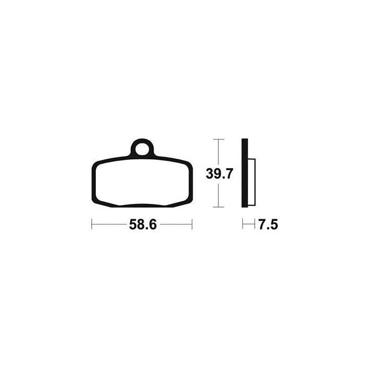 Plaquettes de frein sinter TECNIUM 01624885