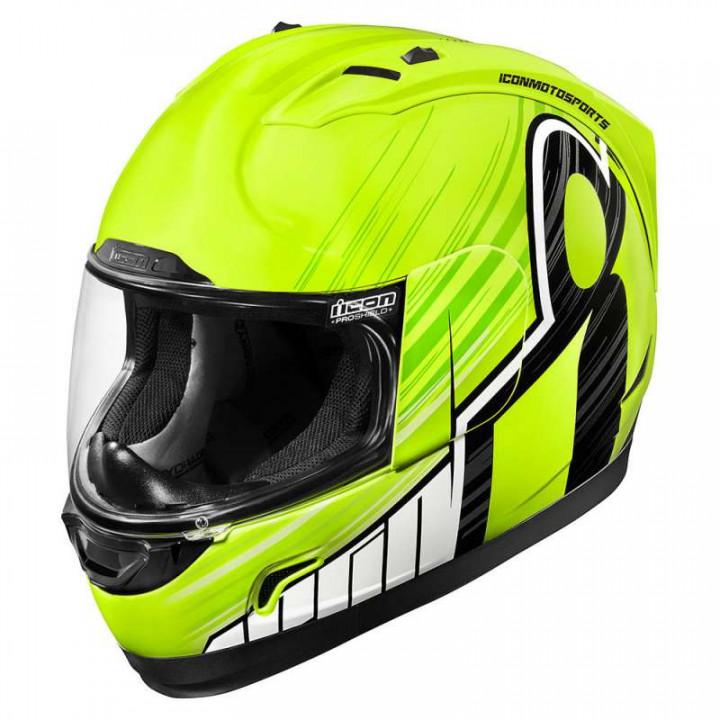 Casque moto Icon ALLIANCE OVERLORD HI-VIZ
