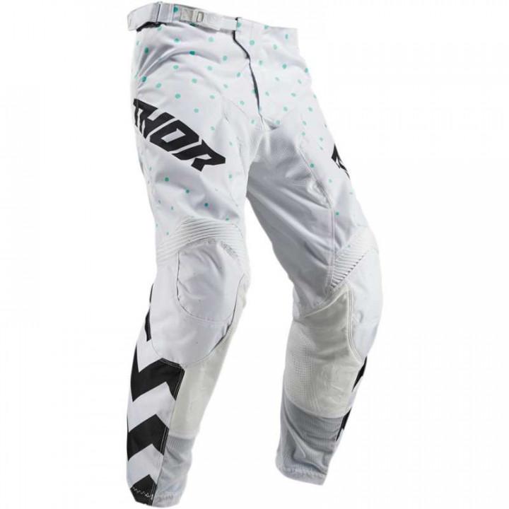 Pantalon moto cross Thor PULSE 2019 STUNNER BLACK/WHITE