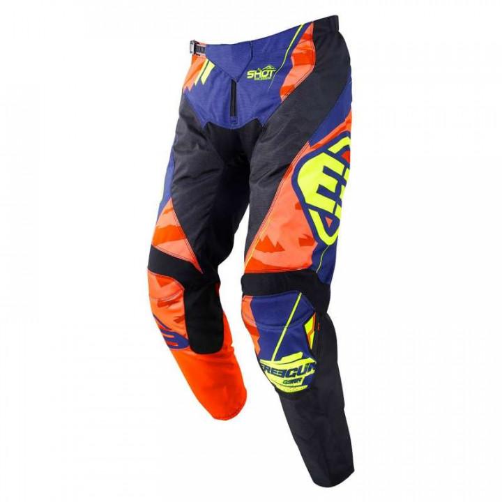 Pantalon moto cross enfant Freegun KID DEVO HERO 2019 BLEU/NEON JAUNE
