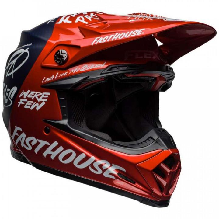 Casque moto cross Bell MOTO-9 FLEX Fasthouse DID 19 Matte/Gloss Red/Navy