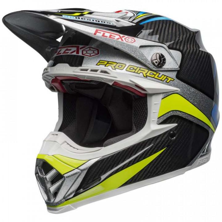 Casque moto cross Bell MOTO-9 FLEX PRO CIRCUIT REPLICA 19 Gloss Black/ Green