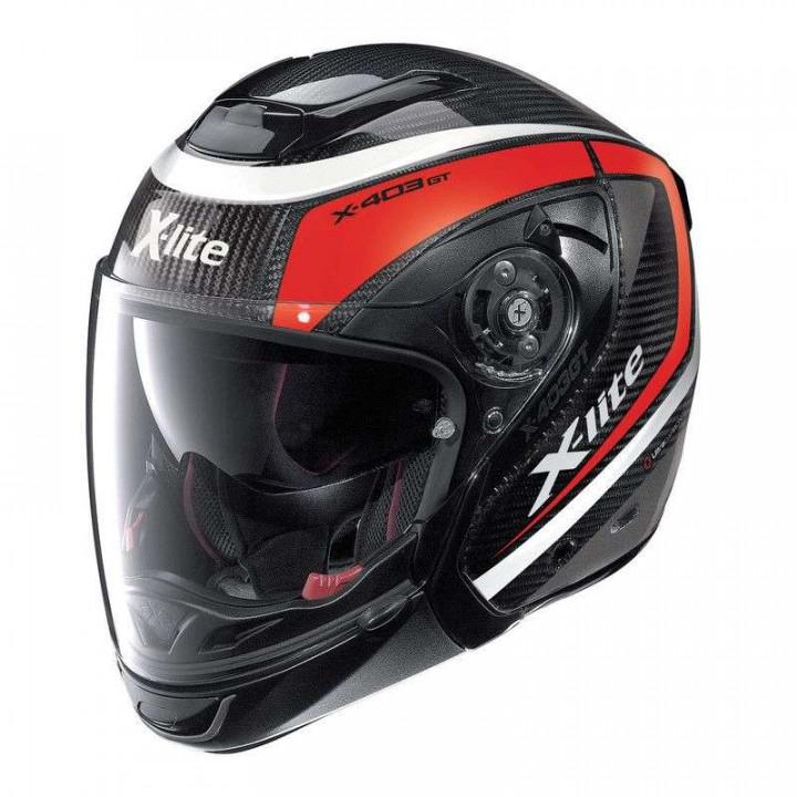 Casque moto X-Lite X403 GT ULTRA CARBON MERIDIAN N COM